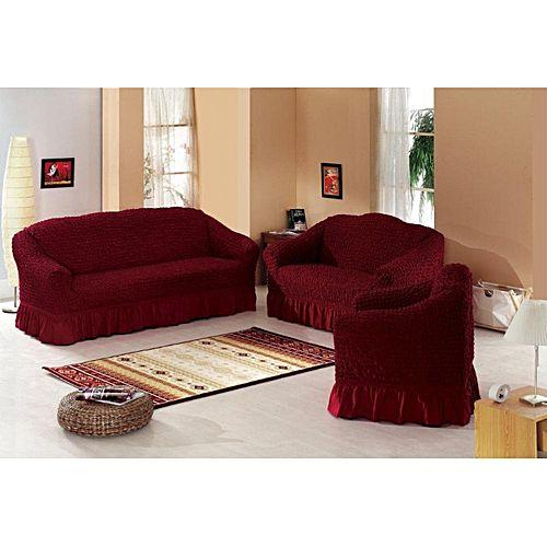 Generic Sofa Seat Covers 3 1 1 Maroon Buy Online