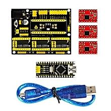 3D Printer Kit For Arduino CNC Shield V4+Nano 3.0+A4988 Driver GRBL Compatible