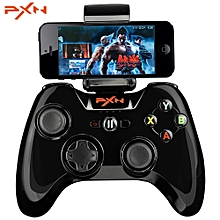 PXN- 6603 MFi Certified Speedy Wireless Bluetooth Game Controller Portable Joystick Vibration Handle Gamepad for iPhone / iPad / iPod Touch / Apple TV-BLACK
