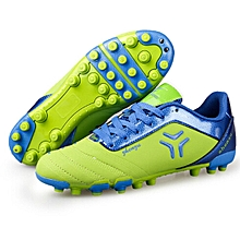 Zhenzu Outdoor Sporting Professional Training PU Short Nail Football Shoes, EU Size: 38(Green)