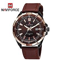 Quartz Leather Strap Mens' Wrist Watch