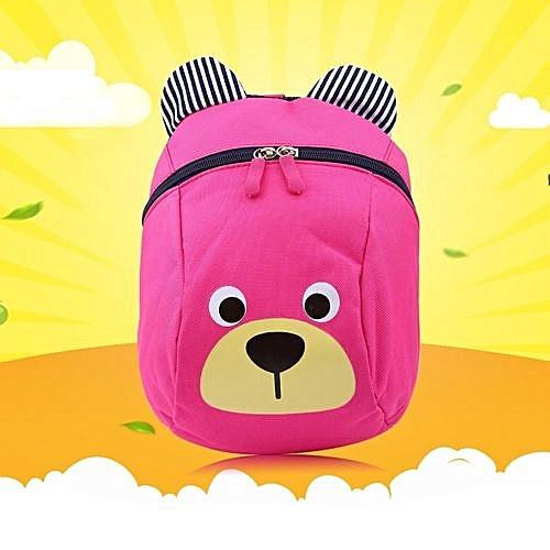 9b436df6ffb UNIVERSAL Baby Toddler Backpack Anti-lost Kids Children Bag Cute Cartoon Kindergarten  School Bags(Pink)