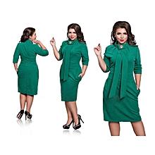 Women's Plus size/Big size office lady pencil dress