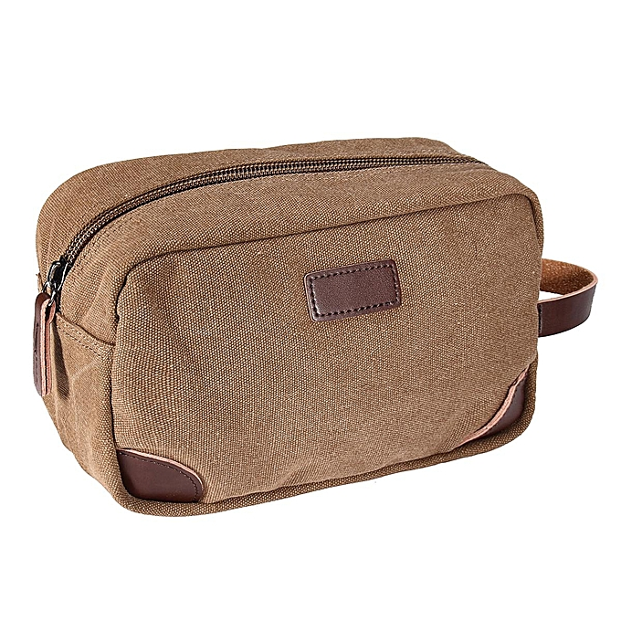 2pcs Mens Black Brown Toiletry Bag Travel Wash Shower Organizer Kit Cosmetic