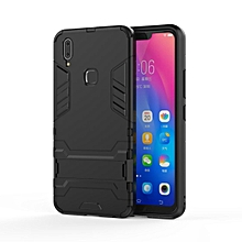 For Vivo Y83 Pro Case, Iron Hard Man Armor Dual Shockproof Bumper Full Body Stand Rubber Back Cover Case With Kickstand For VIVO Y83 Pro
