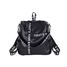 Women's Preppy Style Letter Strap School Bag Travel Backpack Bag