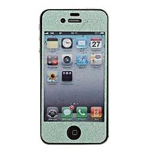 Luxury Glitter Bling Full Body Sticker Skin Screen Protector For IPhone 4 4S Green