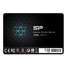 """Silicon Power 128GB SSD 3D NAND A55 SLC Cache Performance Boost SATA III 2.5"""" 7mm (0.28"""") Internal Solid State Drive (SU128GBSS3A55S25AC) by SP Silicon Power"""