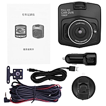 2.4inch TFT 12 megapixels HD Dual Lens Dashboard Car Front Rear Camera DVR Black
