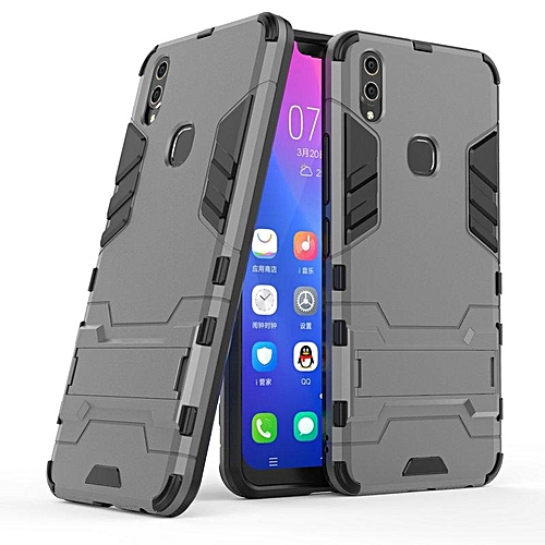 the best attitude ee9d1 26a7f For Vivo V9 Case 3D Luxury Shockproof Stand Hard Case For Vivo V9 Case  Combo Armor Case Back Cover