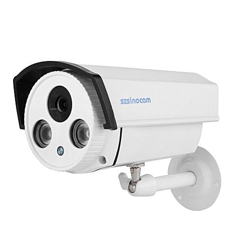 Szsinocam Security CCTV IP Camera POE 720P Waterproof H 264 1 0 Megapixel  ONVIF EU Plug (White)--TC TXSHOP
