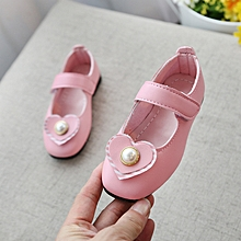 8500ae95c7ba8a Latest Girls Shoes Solid Color Heart-shaped Shoes-pink
