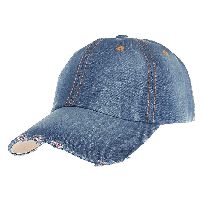 60708cd710a9d 2018 Fashion Mens Womens Jean Sport Hat Casual Denim Baseball Cap Sun Hat