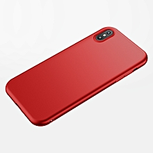 Cafele Matte TPU Case for IPhone X Ultra-thin 0.6mm Comfortable Soft Anti-fingerprint Case Cover (Red) FCJMALL