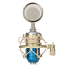 LEIHAO BM - 8000 Professional Sound Studio Recording Condenser Microphone with 3.5mm Plug Stand Holder BLUE