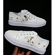 Sneakers Lace Up Breathable Stylish Ladie Sport White