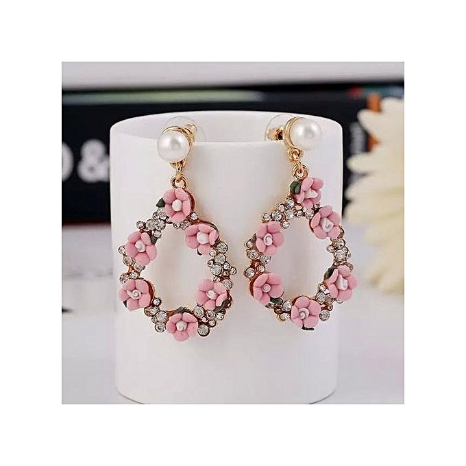 Nice Earrings For Women Drop Coin And Flowers Fashion Ladys Accessories One Pair