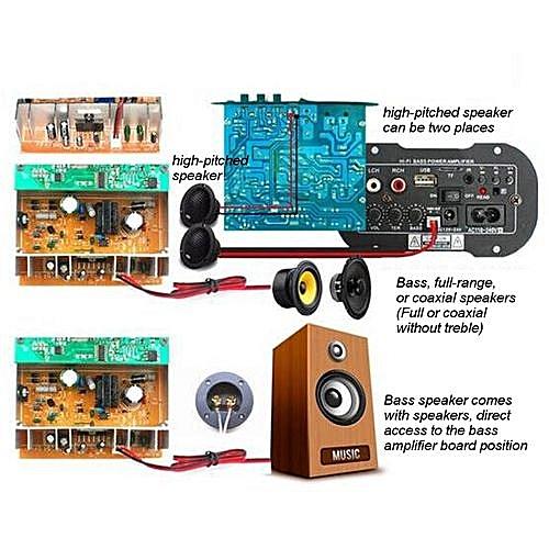 Universal 30W Bluetooth Car Subwoofer Hi-Fi Bass Amplifier