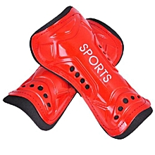 2Pcs Soft Light Football Shin Pads Soccer Guards Sports Leg Protector Kids Adult Red