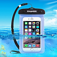 Transparent Universal Waterproof Bag With Lanyard For IPhone, Galaxy, Huawei, Xiaomi, LG, HTC And Other Smart Phones(Blue)