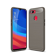 Oppo F9 Case, Ultra-thin Brushed Carbon Fiber Wire Drawing Shockproof Anti-Fingerprints