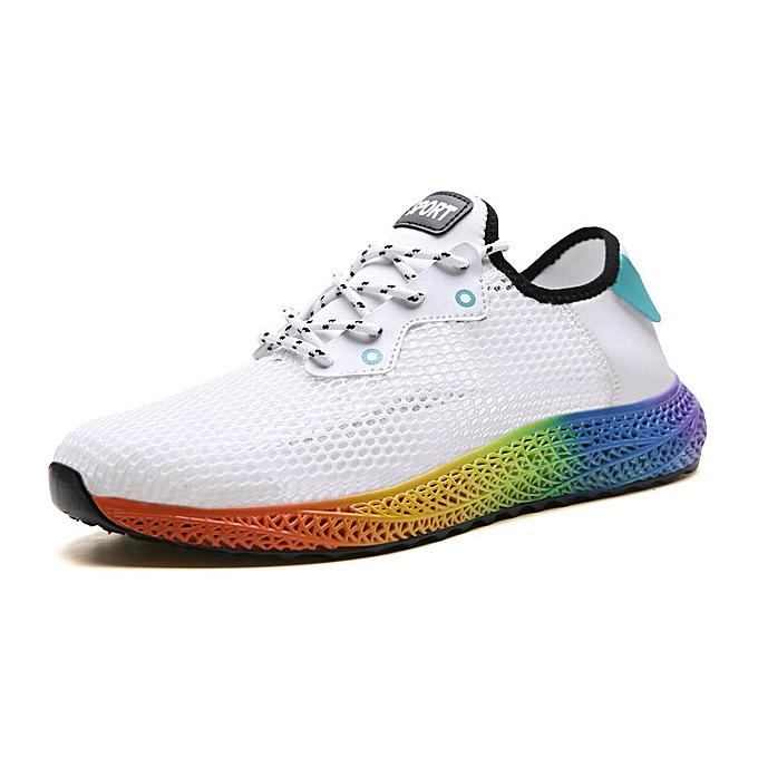 7afc0e4bcea Men's Rainbow Sole Shoes Mesh Cloth Shoes Cool Summer Shoes