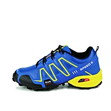 Grace High-quality Waterproof Mens Hiking Shoes Outdoor Trekking Camping Shoes Moutain Non-Slip Men's Hiking Sneakers- Blue
