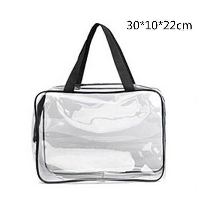 3d9e2f7a8d29 Transparent PVC Bags Travel Organizer Clear Makeup Bag Cosmetic Bag Beauty  Case Toiletry Bag Make Up Pouch Wash Bags(L)