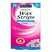 Depilatory Wax Strips With Ready Wax For Body And Legs With Vitamin E - 20 Pieces Per Pack