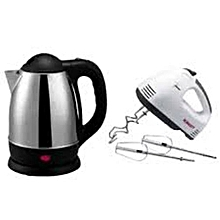 Electric Kettle (Cordless) + a FREE Hand Mixer