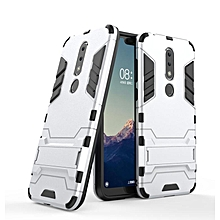 "For Nokia X6 5.8"" Case Slim Hard Back Phone Case Robot Armor Protector Hybrid Rugged Rubber Cover For Nokia X6 Case"
