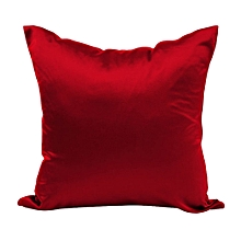 Cushion Covers Solid Color Silks And Satin Pillow Case Hold Pillowcase Red