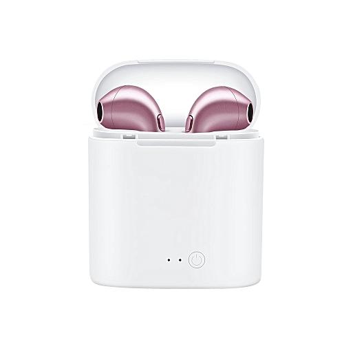 Bluetooth Earbuds New i7s TWS Mini Wireless Headset air ear pods Stereo  Headphones earphone Charging Box for iphone X(#G4-I7-WGR)