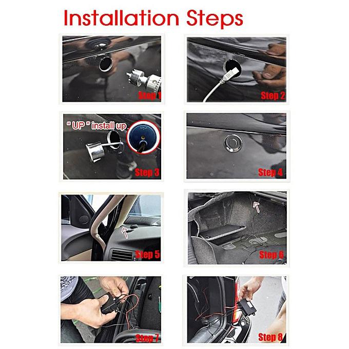 Guoaivo Reversing Parking Radar Sensor Car Vehicle 4 Sensors Audio Buzzer  Sound Alarm -Gold