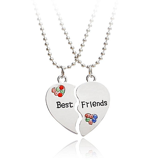29a0eabaa0 ... Creative Two-Pieces Heart Shaped Puzzle Best Friends Stitching Love Necklace  Jewelry Gift ...