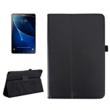 For Galaxy Tab A 10.1 (2016) / P585 Litchi Texture Horizontal Flip Leather Case With Holder(Black)