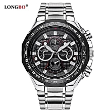Watches, 8830 Luxury Brand Casual Watches Men Full Steel Military Waterproof Sport Quartz Watch Men Business - Silver
