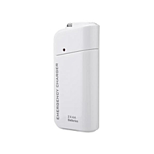 Travel Emergency AA Battery Power Bank External Backup Battery Charger White