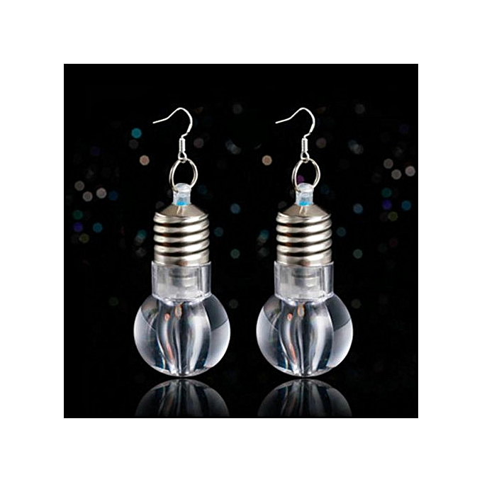 2d2233ae8d5e7 New Arrival 1Pair Led Light Up Bulb 925 Silver Earring Nightclub Party  Colorful Blinking LED Bulb Ear Rings Christmas Decoration