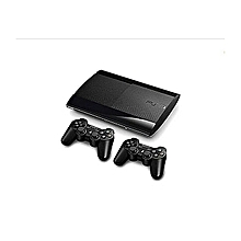 Playstation 3 500GB Super Slim Console + 20 Bonus Games Downloaded Including FIFA 19 Wit PES 2018 + 2 Dual Shock3 Controllers