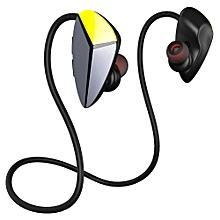 Awei A887BL Wireless In-ear Sweatproof Earphone Bluetooth Stereo Sports Earbuds - STEEL BLUE