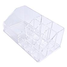 Home-Practical Design Desktop Makeup Organizer Storage Box Make Up Organizer Transparent