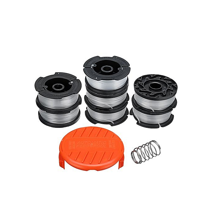 7X Spool Line Trimmer+1*Cap Replacement Parts For Black & Decker Weed Eater  String