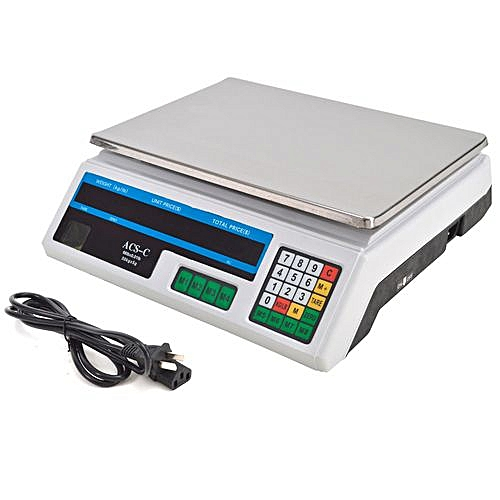 Ams Acs 30 Digital Weighing Scale Silver Best Price