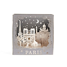 3D Paris Pop up Greeting Card for Birthday Mother's Day Graduation Cards white