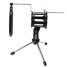 PS - 05 Adjustable Desktop Tripod Studio Condenser Stand for Microphone with Windscreen Filter Cover
