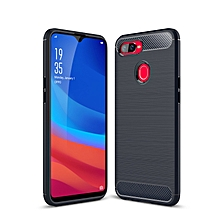 Oppo F9 Case, Ultra-thin Brushed Carbon Fiber Wire Drawing Shockproof Anti-Fingerprints Slim Armor Soft TPU Phone Back Cover Case For Oppo F9