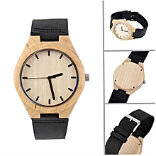 Vintage watches Maple dial watch Black Band Men Women Couple Watch