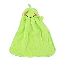 Home-Nursery Soft Plush Fabric Cartoon Animal Hanging Towel Washcloth Hand Towel