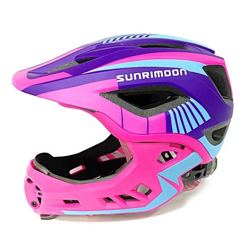 f329d07b5bf Generic Kid Bike Full Face Helmet Children Safety Riding Skateboard Helmet  Inline Skating Sports Protective Equipment with Detachable Chin